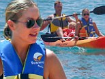 Follow me to the sea! Christina Applegate soaks up the sun and surf while kayaking with her family in Cabo San Lucas