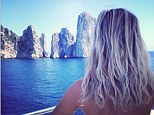 A stunning sight: Reese Witherspoon shared a picturesque snap from her dreamy Capri holiday on Wednesday