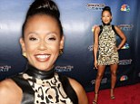She's got animal attraction! Mel B flashes some leg in leopard print mini-dress as she joins Heidi Klum at America's Got Talent after party