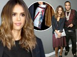 That's an interesting accessory! Jessica Alba clutches a mysterious 'evidence' bag after posing with French Montana on talk show 106 & Park