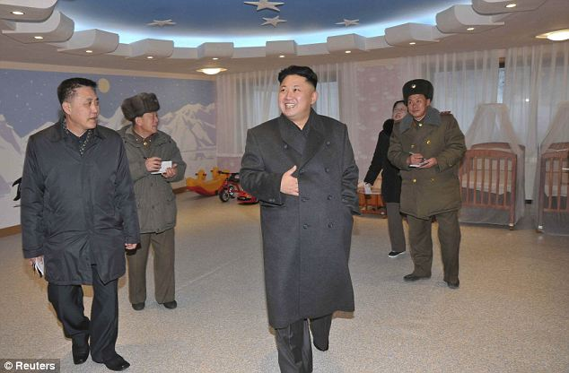 Holiday home: Wonson is an area of particular strategic importance to Kim because on its outskirts lies his favourite luxury holiday home (pictured visiting a nearby ski resort)