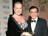 Conflict: Jean Kasem has arranged for her late husband to be buried in Norway and not LA as he wished. The couple is pictured at the Museum of Television and Radio's gala tribute to Barbara Walters on November 15, 2004 at the Beverly Hills Hotel in California