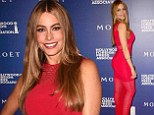 Sofia Vergara is RED HOT as she shows off her incredible figure in semi-sheer dress at Hollywood Foreign Press party