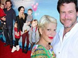'I'm proud of Dean': Tori Spelling gushes about cheat scandal husband McDermott... and says they are working to make their family life 'better than ever'