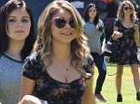 Dunphy girls on parade! Sarah Hyland and Ariel Winter take a sibling stroll on the Pasadena set of Modern Family