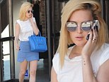 Bolt from the blue! Rumer Willis shows off her fashion chops in a simple yet stylish casual ensemble