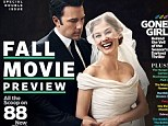 Ben Affleck is a brooding groom while Rosamund Pike plays the happy bride in new EW cover for thriller film Gone Girl