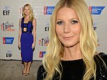 Actress Gwyneth Paltrow attends Hollywood stands up to cancer event with contributors American cancer society and Bristol Myers Squibb hosted by Jim Toth and Reese Witherspoon and the Entertainment Industry Foundation in Culver City, California, America.  \n\n\n(Photo by Michael Buckner/Getty Images for Entertainment Industry Foundation)\nCULVER CITY, CA - JANUARY 28 2014