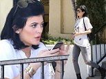 Reality star: Kylie Jenner kept it casual on Thursday while joining a friend for lunch in Calabasas, California