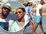LeBron James, who is expecting his third child with wife and high school sweetheart Savannah Brinson, shared a snap from a Mediterranean vacation in which he divulged their baby's name. The NBA star captioned, 'Mykonos Greece is spectacular! Push gift to my wife [Savannah]! Zhuri hurry up and get here so your daddy and 2 brothers can annoy you! Lol.'