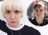 'Change is good': Lena Dunham unveils dramatic platinum blonde bowl cut after wrapping season four of Girls
