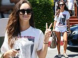 West Hollywood, CA - 29-year-old Cara Santana is all smiles as she flashes a peace sign while leaving Lemonade Cafe in West Hollywood, after having lunch with friends. AKM-GSI       August 14, 2014    To License These Photos, Please Contact :    Steve Ginsburg  (310) 505-8447  (323) 423-9397  steve@akmgsi.com  sales@akmgsi.com    or    Maria Buda  (917) 242-1505  mbuda@akmgsi.com  ginsburgspalyinc@gmail.com