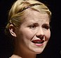 Brave: Elizabeth Smart-Gilmour, who was kidnapped and repeatedly raped when she was 14, is pictured speaking at a crime and human trafficking conference in Sioux Falls, South Dakota on Wednesday
