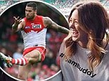 Supporting her man! Jesinta Campbell proves she's Buddy Franklin's biggest cheerleader as she goes all out for her boyfriends 200th game