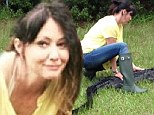 Shannen Doherty releases a 4ft alligator into the wilds of Georgia while filming her new reality series Off the Map
