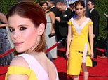 Emmy Award loser Kate Mara maintains sunny disposition in head-to-toe Dior despite staff 'taking my flask away'