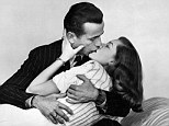 'He did everything to put me at ease': Lauren Bacall and Humphrey Bogart embrace in The Big Sleep in 1946