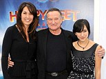 Memorial service: Robin Williams family are said to be arriving in Tiburon, California, to mourn the actor, pictured with his widow Susan Schneider and daughter Zelda in November 2011