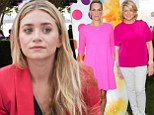 In the pink! Ashley Olsen, Martha Stewart and Molly Sims shine in shades of fuchsia at Paddle And Party charity event