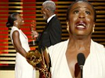 Orange Is The New Black star Uzo Aduba breaks down in tears as Morgan Freeman presents her with Creative Arts Emmy