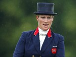Saddling up: Zara Phillips is now preparing herself for the prestigious competition