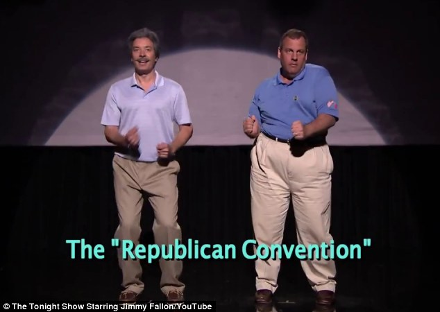 The right way? Fallon and Governor Chirstie showed how they go crazy, crazy, crazy til they see the sun at the Republican Convention