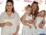 Pregnant Alyssa Milano holds belly as Rebecca Gayheart cuddles with kids at Disney Junior's Pirate And Princess: Power Of Doing Good tour