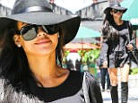 It's not Halloween yet! Naya Rivera goes for a bewitching look with a big hat, boots and billowing sleeves