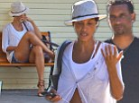 Nicole Murphy spotted out with a mystery man in Malibu