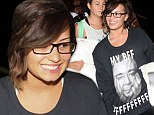 Demi Lovato was advertising her friendship with talk show host Jimmy Fallon on Saturday evening. The Really Don't Care hitmaker donned a jumper given to her as a gift on The Tonight Show the evening before as she landed at the airport in Los Angeles greeted by a mob of excited fans.