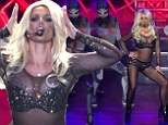 Britney Spears sizzles in midriff-baring attire as she returns to Planet Hollywood for first night of Piece Of Me show