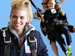 Leap of faith! Brave 90210 star AnnaLynne McCord takes the plunge and goes skydiving for charity