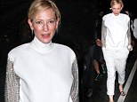 Keeping things simple! Cate Blanchett steps out in another head-to-toe white outfit as she performs her final show for New York play The Maids
