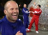 They fall head over heels for each other! Jason Statham crushes Jimmy Fallon in hamster-ball race