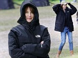 That's a wrap: Nicole Kidman kept the chill at bay on a drizzly New York day while filming The Family Fang.