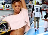Beyonce and Jay Z put on a show of solidarity as they take daughter Blue Ivy for a day at the race track