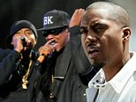 INDIO, CA - APRIL 12:  Rappers Nas (L) and Jay-Z  perform onstage during day 2 of the 2014 Coachella Valley Music & Arts Festival at the Empire Polo Club on April 12, 2014 in Indio, California.  (Photo by Frazer Harrison/Getty Images for Coachella)
