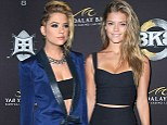 It's a draw! Knockouts Ashley Benson and Nina Agdal turn up the heat as they flash their toned midriffs at boxing event
