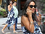 Rosario Dawson and Luis Guzman with similar bellies filming their latest movie\n\nPictured: Rosario Dawson and Luis Guzman\nRef: SPL823072  170814  \nPicture by: Splash News\n\nSplash News and Pictures\nLos Angeles: 310-821-2666\nNew York: 212-619-2666\nLondon: 870-934-2666\nphotodesk@splashnews.com\n