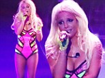 Lip syncing again? Britney Spears performs Perfume on the Vegas stage... but Sia's voice is heard by bemused fans