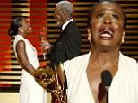 Orange Is The New Black star Uzo Aduba breaks down in tears as Morgan Freeman presents her with Creative Arts Emmy