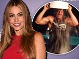 'He looks hot doing anything with water on top of him!' Sofia Vergara gets steamy about Joe Manganiello as he does the ALS Ice Bucket Challenge