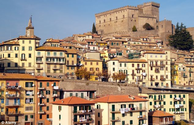 The medieval fortress sits above the feudal town of Soriano Nel Cimino