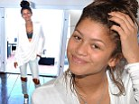 Living it up! Zendaya gets into the summery spirit for a photoshoot at a luxurious beachside home