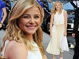 Chloe Grace Moretz is fresh-faced in flowing white ensemble as she promotes new film IF I Stay on GMA