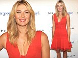 Orange you jealous! Maria Sharapova scored a fashion ace in a tight orange mini-dress as she promoted her sunscreen products at Sephora 5th Avenue in New York City on Monday