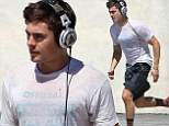 Working up a sweat! Zac Efron gets back to business and enjoys a healthy run on the set of his latest movie We Are Your Friends