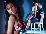 Scantily-clad Nicki Minaj performs lap dance for Drake in stills from raunchy new Anaconda music video