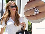 Sofia Vergara wears a sparkly ring on engagement finger amid new romance with Joe Manganiello (but is it just a savvy plug for her new jewellery line?)