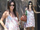 Fun in florals: Rachel Bilson covered her growing belly in a chic summery frock as she left her mother's house in Los Angeles on Sunday
